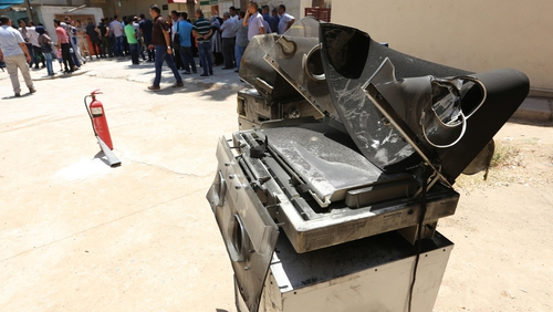 The fire broke out at one of Baghdad's largest maternity hospitals