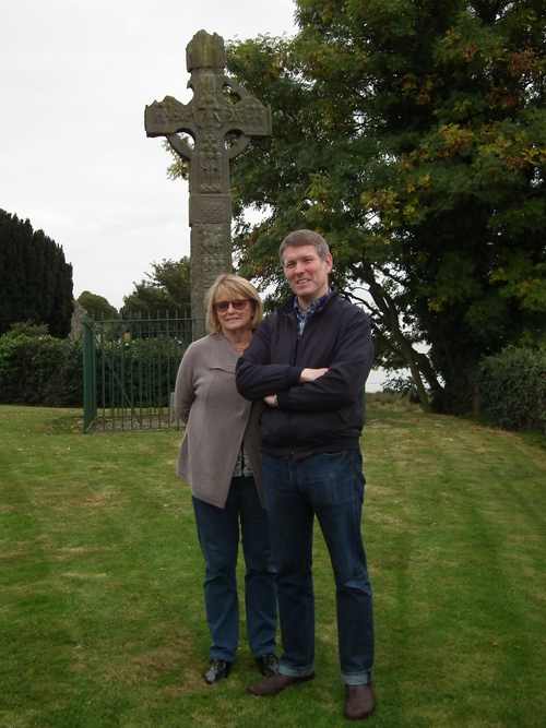 Mick Heaney and Marie Heaney at Ardboe cross. Pic Pat Grimes .