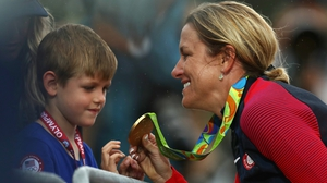 Kristin Armstrong's son prefers fencing to cycling