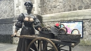 Dublin's most famous statue - Molly Malone - has a monologue selected from a public competition