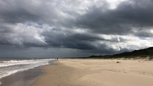 Gloomy clouds over Cahore South beach (Pic: Eric Clarke)