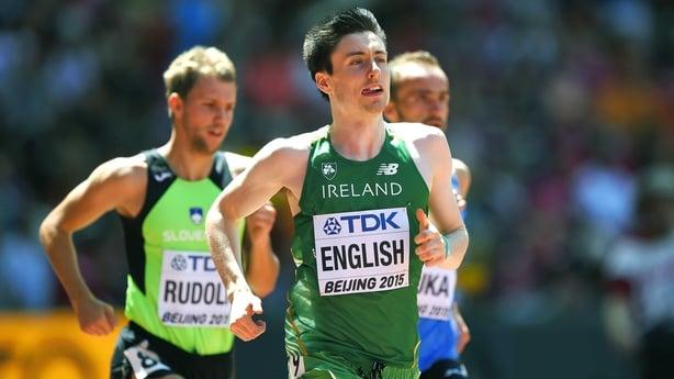 Mark English will run in the 800m
