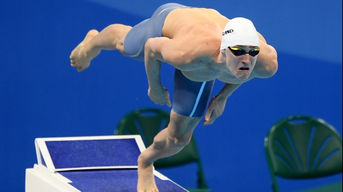 Shane Ryan set a new Irish Record in the 10m Backstroke on Saturday