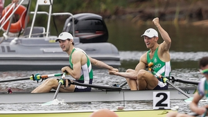 The brothers were victorious in their first competitive race since the Olympics