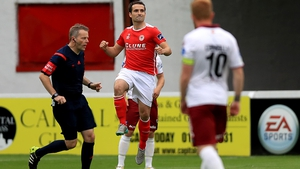 Christy Fagan celebrates his first-half goal