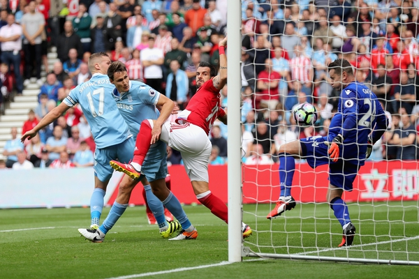 Shay Given can not prevent Alvaro Negredo open the scoring for Middlesbrough