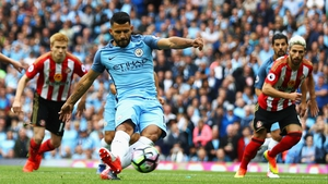 Sergio Aguero has started the season in flying form, scoring nine goals in five games