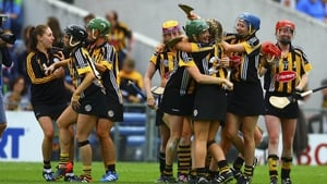 Kilkenny players celebrate at full-time