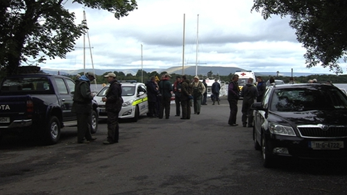 The search took place at Lough Corrib in Co Galway