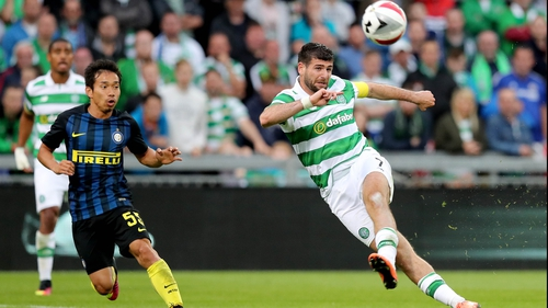 Nadir Ciftci hits the crossbar in the first half