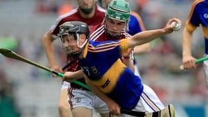 Tipperary's Jerome Cahill with Evan Niland of Galway in Croke Park