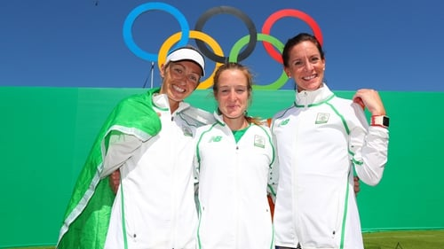 Lizzie Lee, Fionnuala McCormack and Briege Connolly