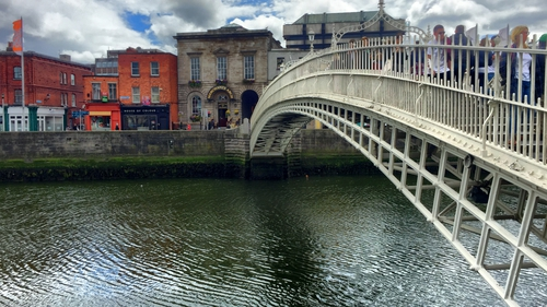 The area at the Ha'Penny Bridge was cited as one pinch point on the route