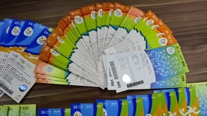 Hundreds of tickets marked for the Olympic Council of Ireland were seized