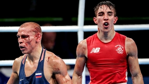 Vladimir Nikitin (L) was deemed to have beaten Michael Conlan in Rio