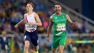 Thomas Barr celebrates winning his Olympic semi-final in Rio