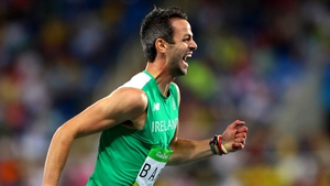 Thomas Barr broke his own national record to win his semi-final