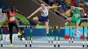 Thomas Barr on his way to winning his semi-final