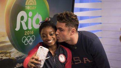 Olympic Hero Simone Biles Met a Fan Named Zac Efron