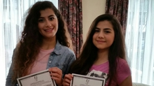 Diana and Loujin are among this year's Leaving Certificate high performers