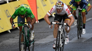 Peter Sagan finished this year's Tour de France in the green jersey awarded to the leading sprinter