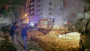 The bomb exploded in the garden of the police headquarters in Elazig