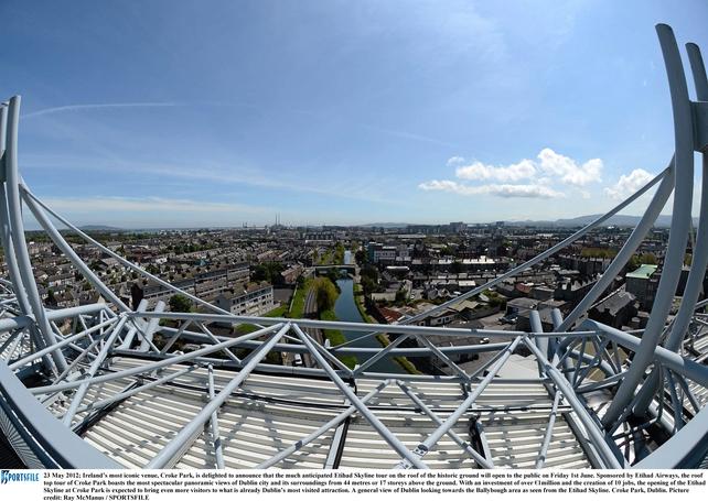 Breath-taking views of Dublin from the Etihad Skyline Tour