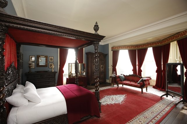 Castle Master Bedroom, called The Red Room