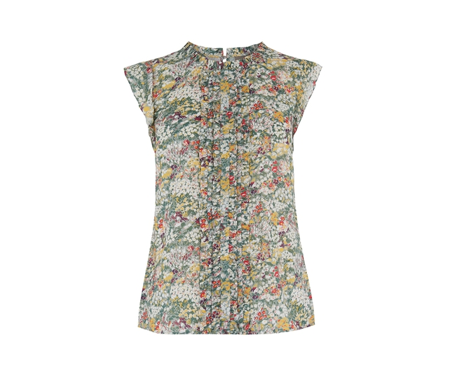Oasis has a feminine frill top that's perfect for a day to night look for £32