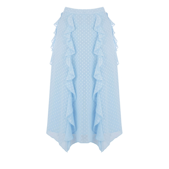 This A-line midi skirt from Warehouse has a simple and sweet frill to brighten up your day for €64