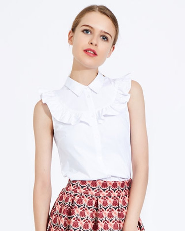 Bring your frill to work with this clean white shirt from Dunnes Stores for €30