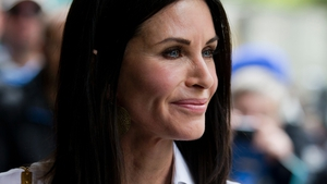 Courteney Cox - baulks at the prospect of Grylls' dinner prospects