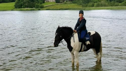 Deirdre Mullins and her pal Ken on a short break to Castle Leslie in County Monaghan