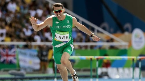 Thomas Barr in full flight during his men's 400m final