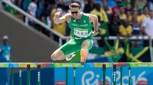 Thomas Barr finished fourth in the 400m hurdles at Rio 2016
