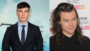 Cillian Murphy gives Harry Styles the thumbs up