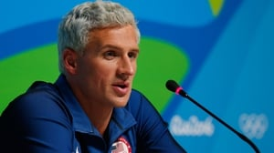 Ryan Lochte appeared to be in footage released by Brazilian television
