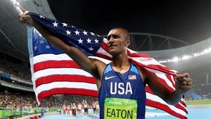 Ashton Eaton won his second decathlon gold