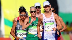 Rob Heffernan in action in the 50km Walk in Rio