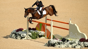 Nick Skelton in action in the final