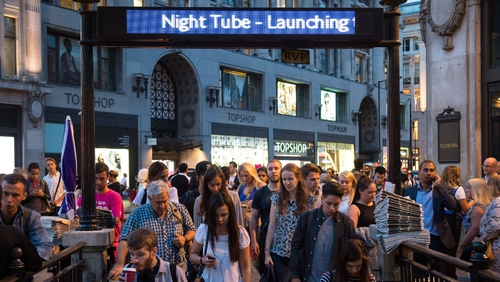 London Underground expects 50,000 people to use the Night Tube each weekend, rising to 200,000 once all five lines are open