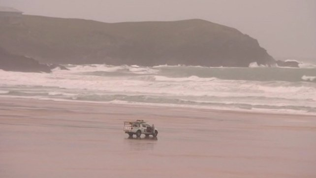 In Cornwall, a British man died after being swept out to sea yesterday while he was at a beach with his family