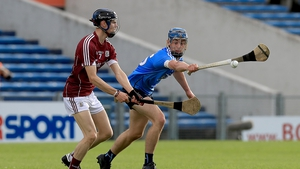 Sean Loftus of Galway with Ryan McBride of Dublin