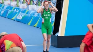 Reid after crossing the line to finish in 21st position