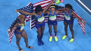 There was more glory for the women's 4x400m relay team