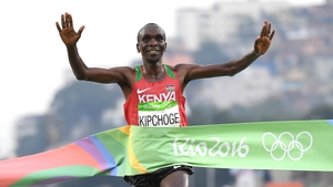 Eliud Kipchoge wins the Rio 2016 men's marathon