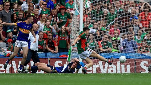 Jason Doherty slots home Mayo's opening goal