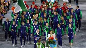 And so it began. Paddy Barnes led out Team Ireland at the spectacular opening ceremony...