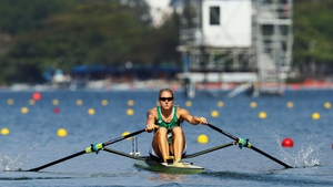 Sanita Puspure made it out of her single sculls heat, but she would suffer the agony of fourth in the quarter-finals.
