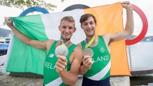 Gary and Paul O'Donovan pictured after their medal win in Rio